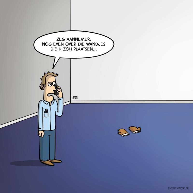 Cartoonposter 'Wandjes'