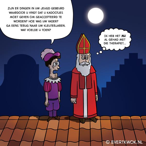 Evert Kwok Sinterklaas cartoon