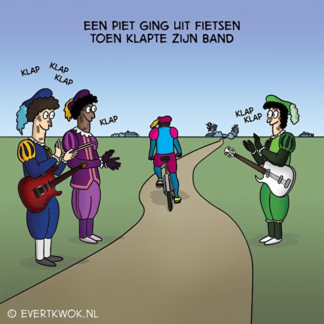 Evert Kwok Sint en Piet cartoon