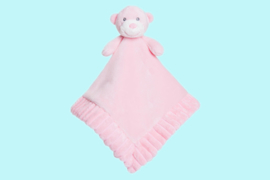 Aurora Baby knuffeldoekje beer roze