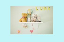 Houten letter A-decoratie kat-muur kinderkamer