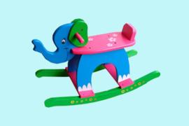 Charl's Toys houten hobbelfiguur Olifant