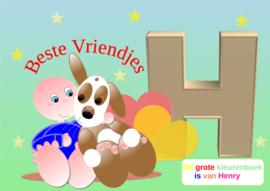 Kleurboek peuter - gepersonaliseerd -H - Beste Vriendjes