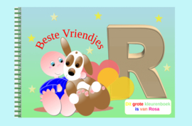 Kleurboek peuter - gepersonaliseerd - R - Beste Vriendjes