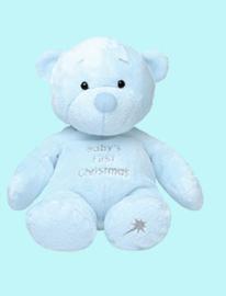 baby's eerste kerstmis beer blauw