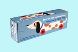 Charlie the sausage dog-Houten trekspeelgoed