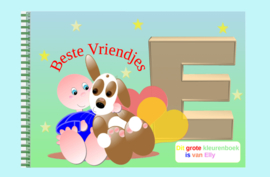 Kleurboek peuter - gepersonaliseerd -E - Beste Vriendjes