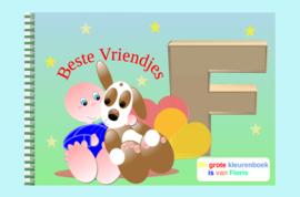 Kleurboek peuter - gepersonaliseerd -F - Beste Vriendjes