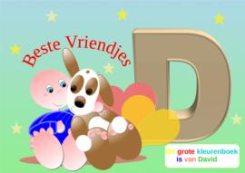 Kleurboek peuter - gepersonaliseerd -D - Beste Vriendjes