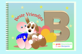 Kleurboek peuter - gepersonaliseerd - B - Beste Vriendjes