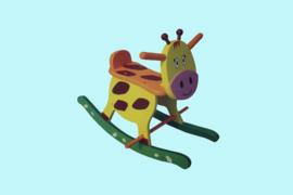 Charl's Toys houten hobbelfiguur Giraffe