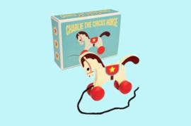 Houten trekspeelgoed Circuspaard