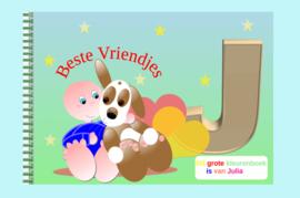 Kleurboek peuter - gepersonaliseerd - J - Beste Vriendjes
