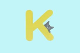 Houten letter K-decoratie kat-muur kinderkamer