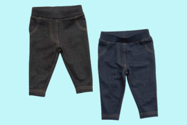 Baby Town baby denim look leggings zwart en blauw
