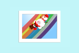 Beste Vriendjes poster kinderkamer Vliegen over de regenboog