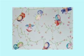 Kadopapier baby met lieve illustraties