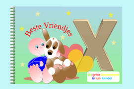 Kleurboek peuter - gepersonaliseerd - X - Beste Vriendjes