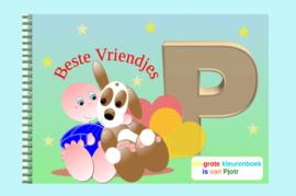 Kleurboek peuter - gepersonaliseerd - P - Beste Vriendjes