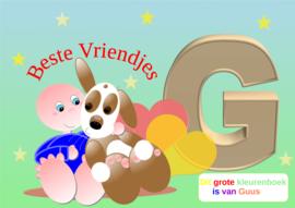Kleurboek peuter - gepersonaliseerd -G - Beste Vriendjes