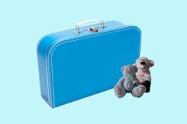 Koffertje aquablauw