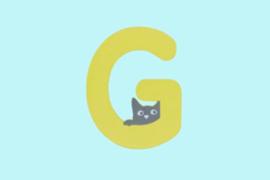 Houten letter G-decoratie kat-muur kinderkamer