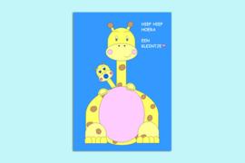 Beste Vriendjes felicitatie geboorte jongen giraffe