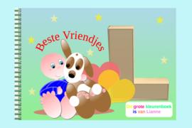 Kleurboek peuter - gepersonaliseerd - L - Beste Vriendjes