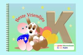 Kleurboek peuter - gepersonaliseerd - K - Beste Vriendjes