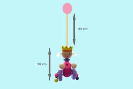 Houten Stokroller Koningin