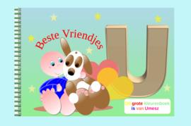 Kleurboek peuter - gepersonaliseerd - U - Beste Vriendjes