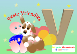 Kleurboek peuter - gepersonaliseerd - V - Beste Vriendjes