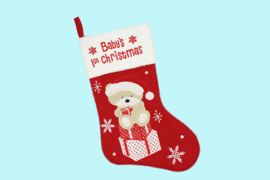 Baby's 1e Kerstmis sok