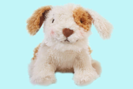 Bunnies by the bay bruinwit hondje 28 cm
