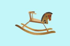 Charl's Toys houten peuterhobbelpaard met steun