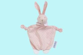Les Bebes D'Elysea knuffeldoekjes konijn roze en blauw