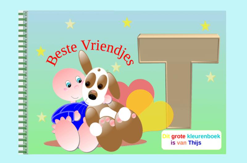 Kleurboek peuter - gepersonaliseerd - T - Beste Vriendjes