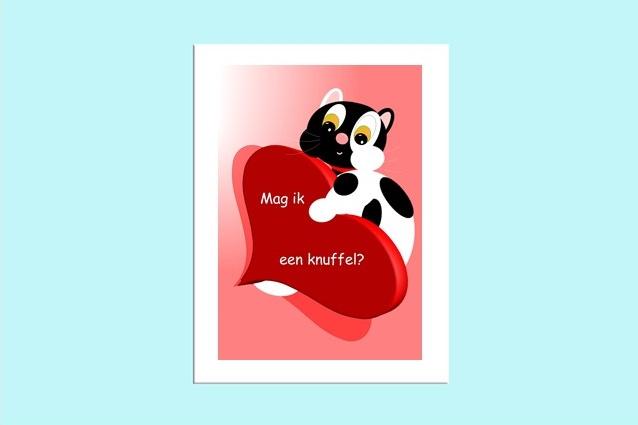 Beste Vriendjes poster kinderkamer Mag ik een knuffel?