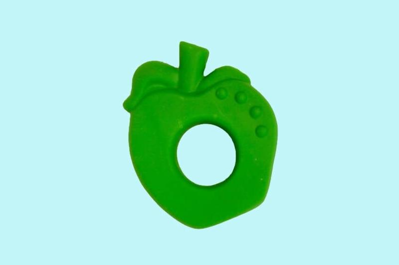 Lanco - Rubberen bijtring appel