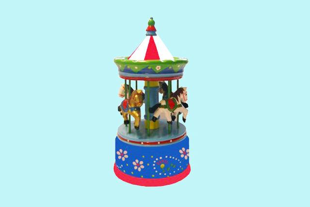 Charl's Toys houten muziekdoosje Carrousel