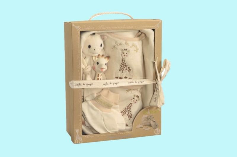 Sophie de giraf So'Pure geboorte mandje