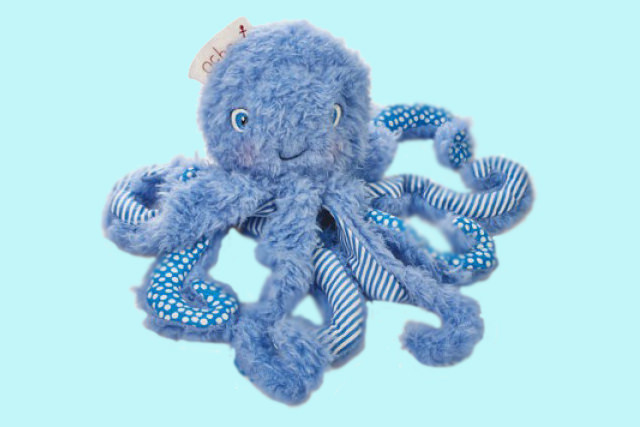 Bunnies by the bay Ocho de Octopus blauw 23 cm