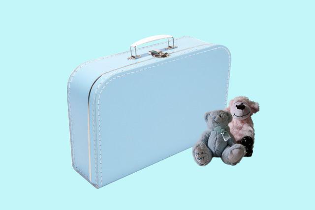 Koffertje lichtblauw