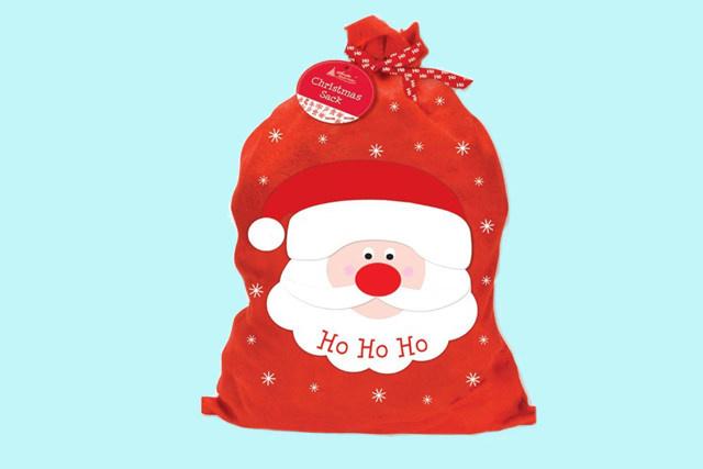 Kerstmis zak Santa Claus