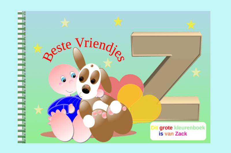 Kleurboek peuter - gepersonaliseerd - Z - Beste Vriendjes
