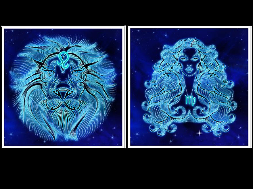 Sterrenbeeld-Leeuw-Maagd