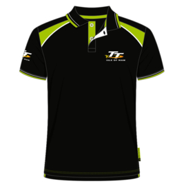 Isle of Man TT polo zwart/groen