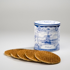 Syrup Waffels in Delfts Blauw Container - 10 Pieces