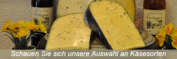 Schauen Sie sich unsere Auswahl an Käsesorten