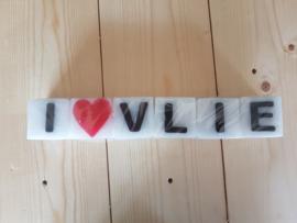 I love Vlie letterkaarsjes